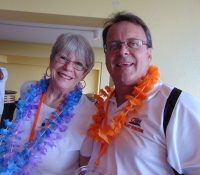 Phyllis Loury (TomL Publishing) and Mike Holmes